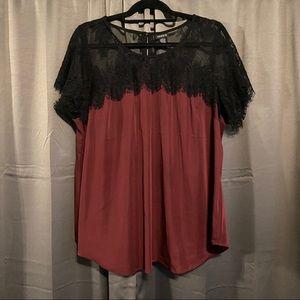 Purple lace blouse - Torrid